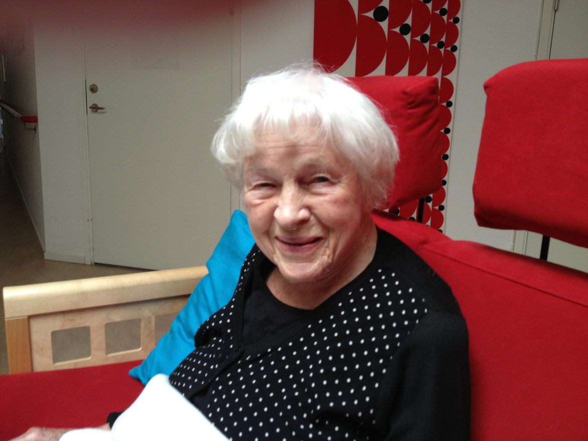Kära mor Ruth Gunhild Gross något år innan hennes bortgång år 2015. Hon blev 97 år.