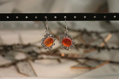 Boucles d'oreilles orange fantaisies