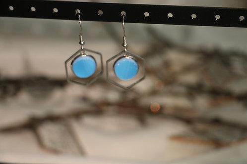 Boucles d'oreilles bleues fantaisies