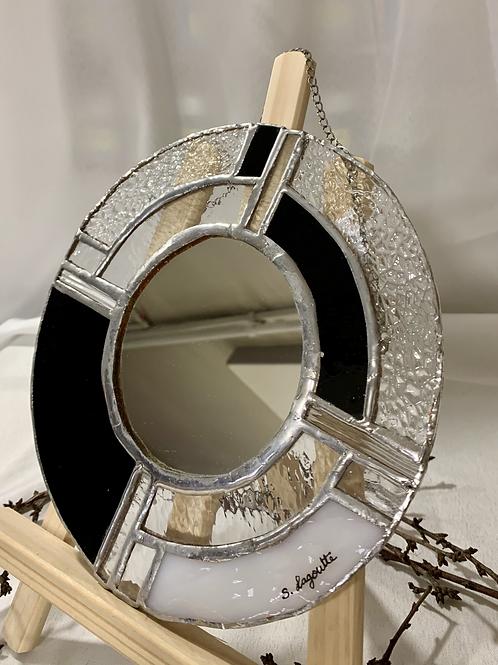 Miroir rond en Tiffany