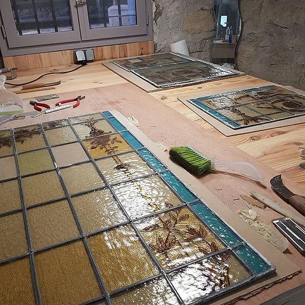 Restauration de vitraux du début XX
