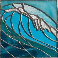 Vitrail Tiffany vague Hokusai