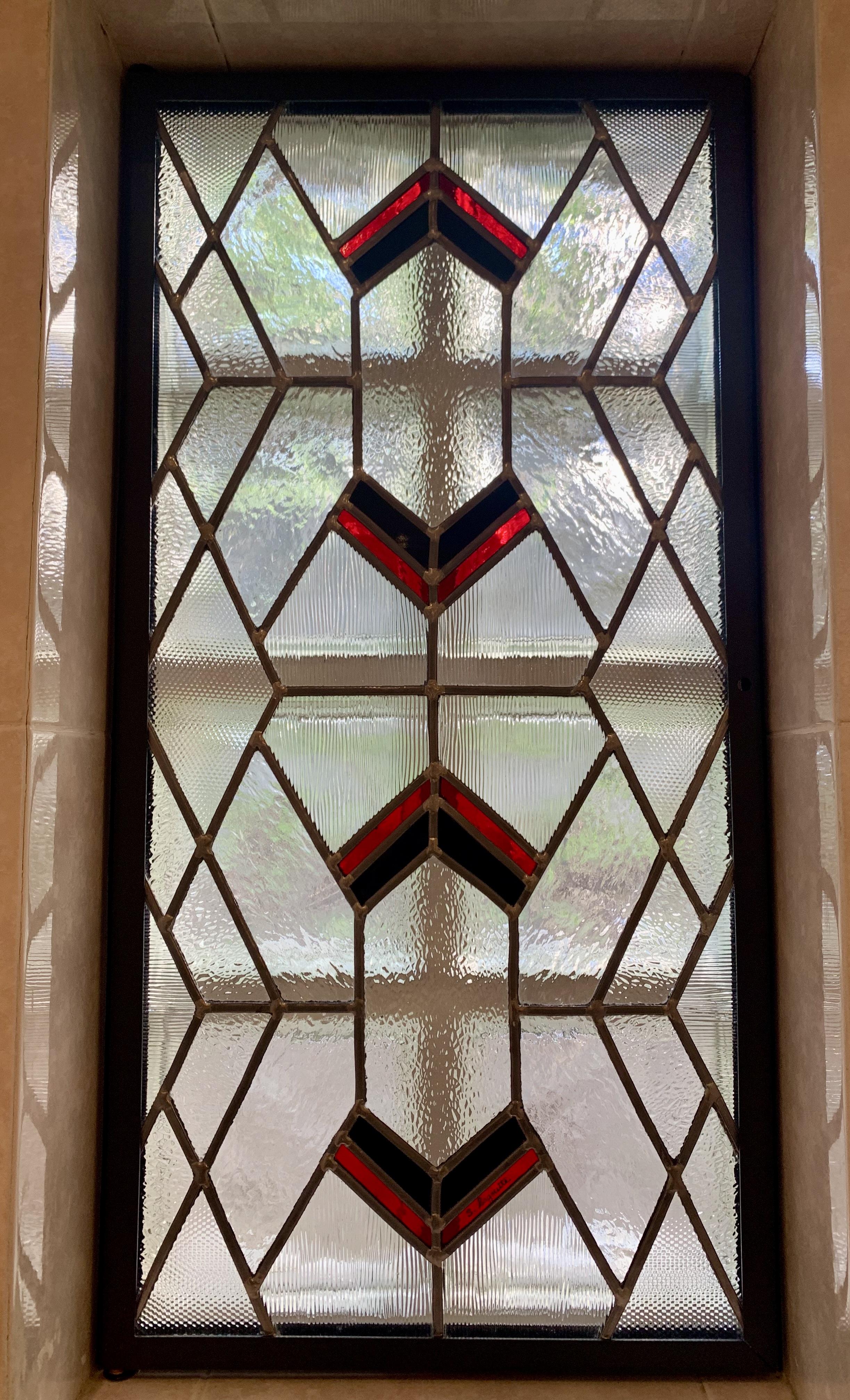 Création originale vitrail Art déco