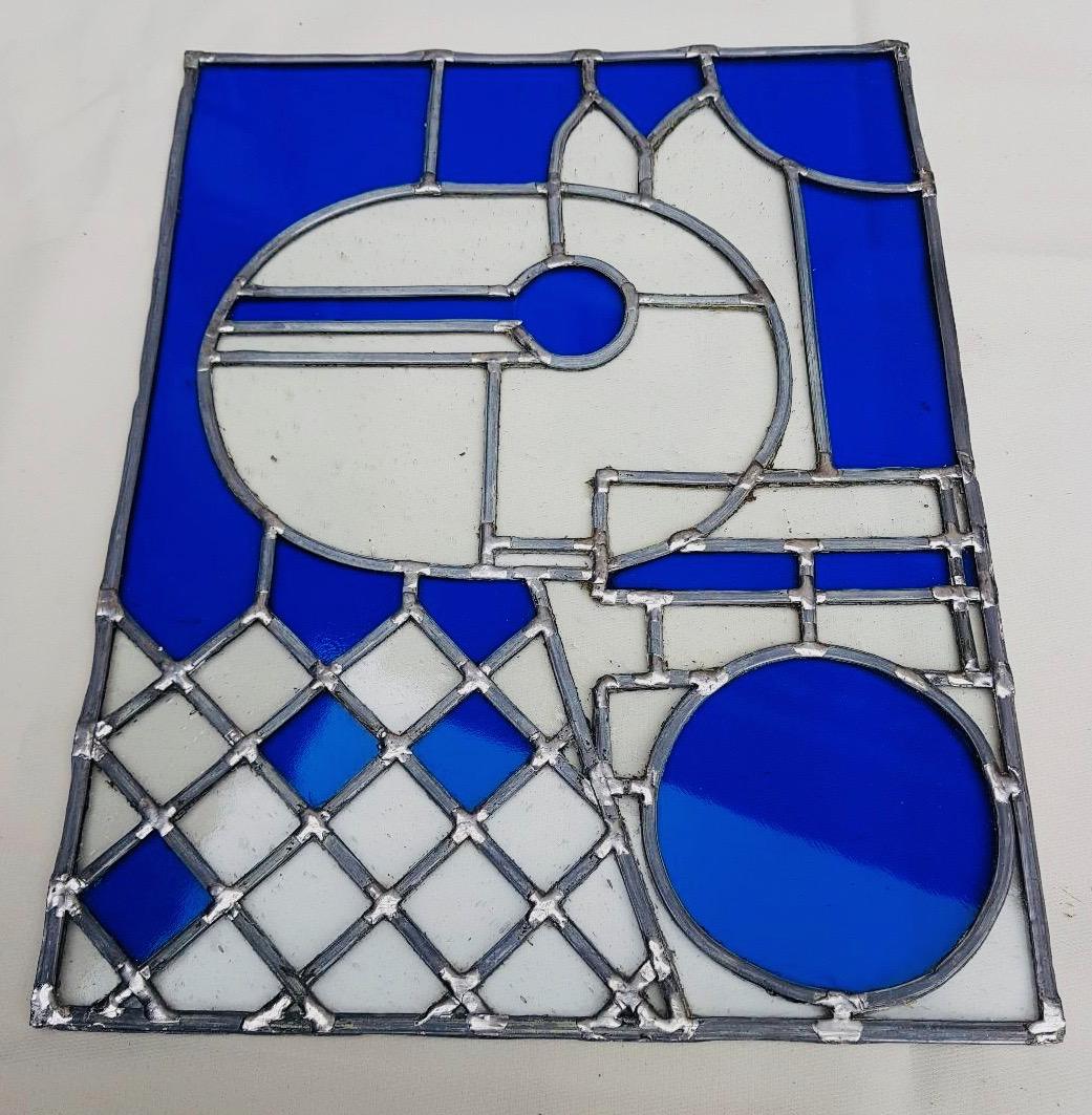 Vitrail Ane bleu