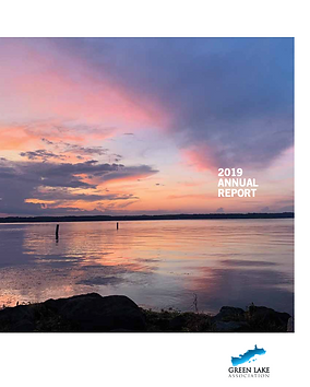 Green Lake, sunset, annual report