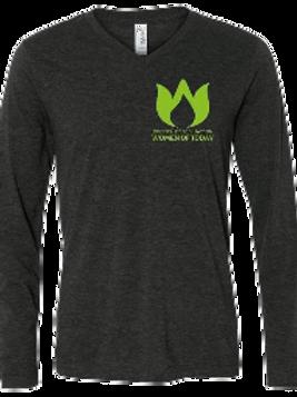 V-Neck Long Sleeve T-Shirt - Small Logo