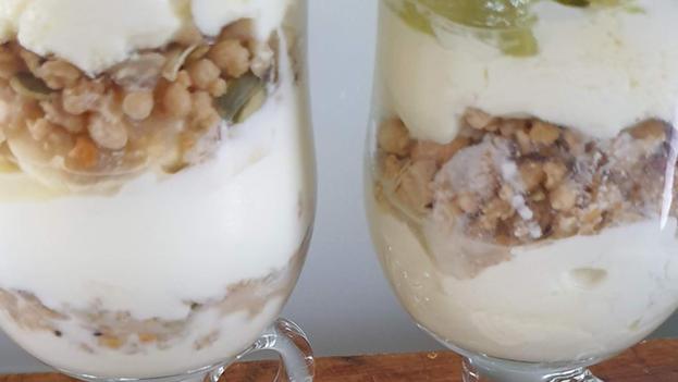 Layered yogurt and granola