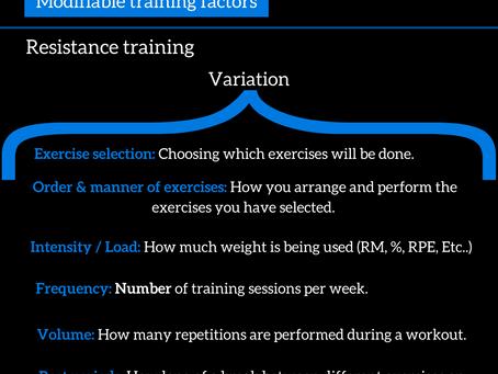 Modifiable training factors