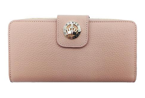 Konig - Women Wallet Rose - Portefeuille en Cuir pour Femme