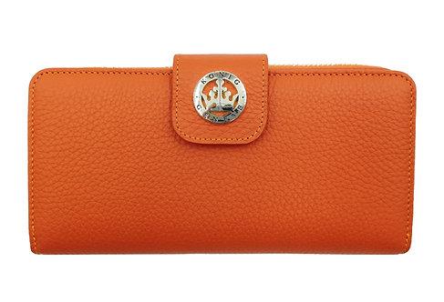 Konig - Women Wallet Orange Floater - Portefeuille en Cuir pour Femme