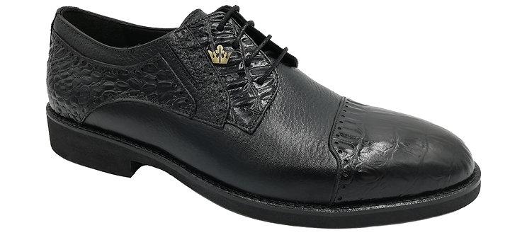 Konig Genève - Mr. President Black Croco - Chaussures Habillées