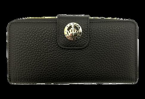 Konig - Women Wallet Black - Portefeuille en Cuir pour Femme