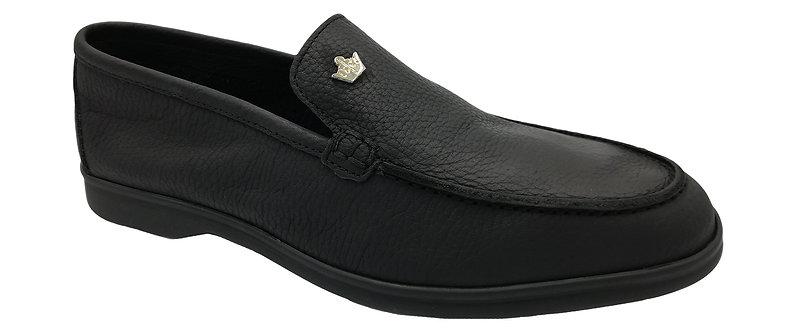 Konig - 3564 Noir - Chaussures Hommes en Cuir - Sans Lacets