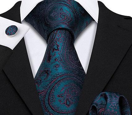 Konig Genève - Ensemble Cravate - Tie Set - Ocean