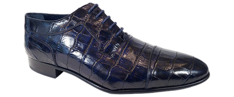 Konig - 1912 Croco Blue - Chaussures Habillées