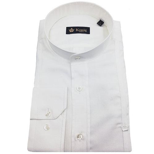 Konig - Cotton Shirt Col Mandarin White