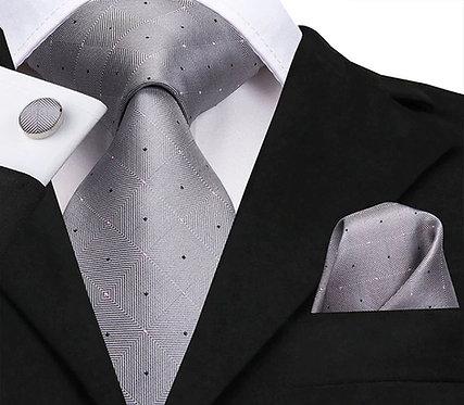 Konig Genève - Ensemble Cravate - Tie Set - Light Grey