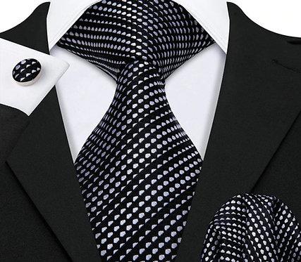 Konig Genève - Ensemble Cravate - Black & White