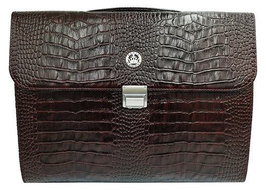 Konig Genève - Briefcase Brown Croco