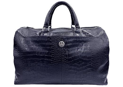 Konig Genève - Travel Handbag Azure Blue Croco