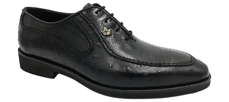 Konig Genève - Mr. President Black Ostrich - Chaussures Habillées