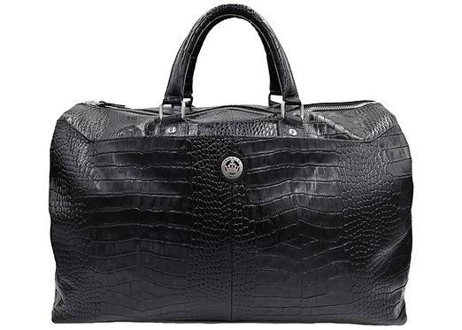 Konig Genève - Travel Handbag Azure Black Croco