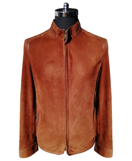 Konig - Leather Suede Jacket Brown