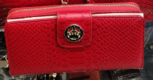 Konig - Women Wallet Red Python