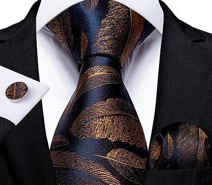 Konig Genève - Ensemble Cravate - Tie Set - Plumes