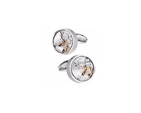 Konig Cufflink - Watch Movement Series Rounded