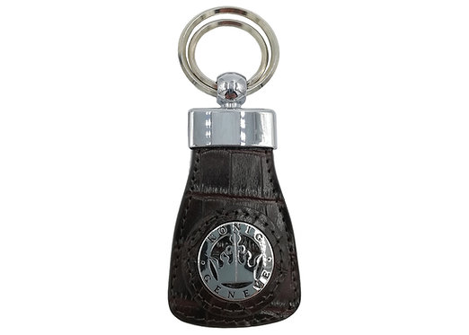Konig Genève - Key Chain Brown Croco