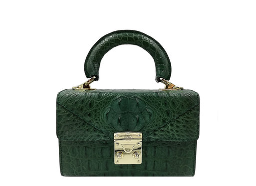 Konig - Geneva Mini Handbag Croco Royal Green