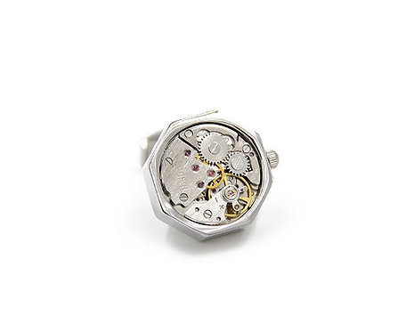 Konig Cufflink - Watch Movement Series Octagon (2 colors)