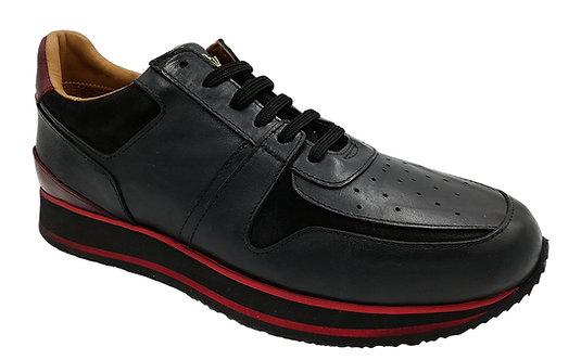 Konig - 8418 Black & Red - Chaussures Hommes Sport