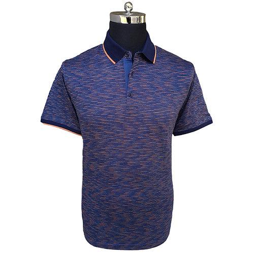 Konig - Orchard Orange & Blue Polo Short Sleeves