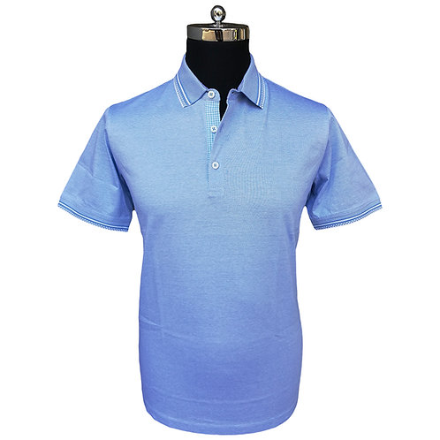 Konig - Sky Light Blue Polo Short Sleeves