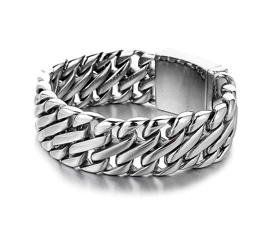 Konig Genève - Double Cuban Chain Link Bracelet