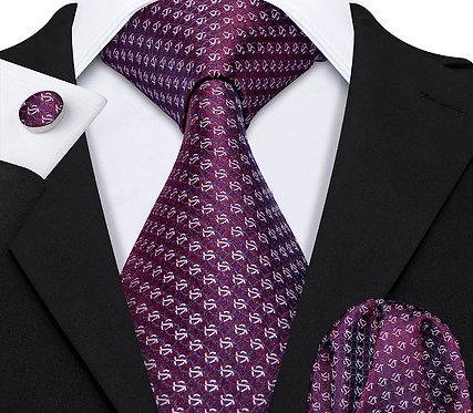 Konig Genève - Ensemble Cravate - Tie Set - Bordeaux