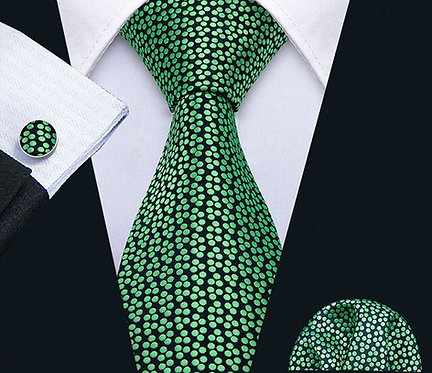 Konig Tie Set - Green Lagon