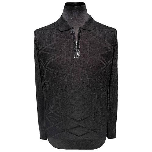 Konig - Wool Polo Sweater Zipped Black