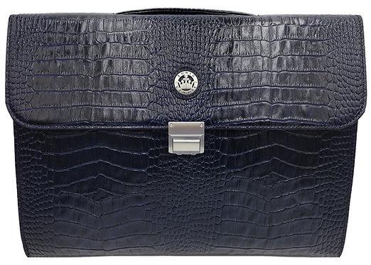 Konig Genève - Briefcase Blue Croco