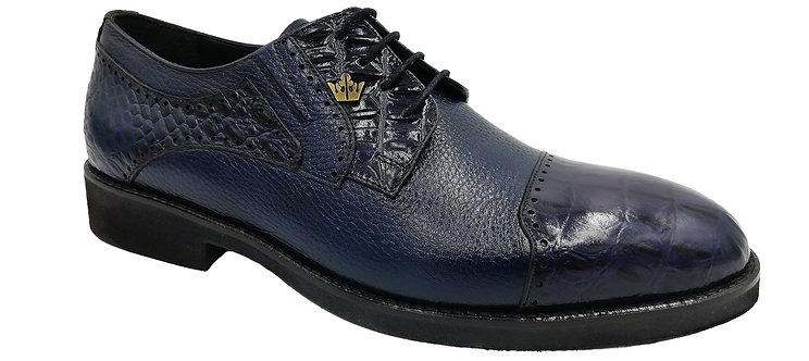 Konig Genève - Mr. President Blue Croco - Chaussures Habillées