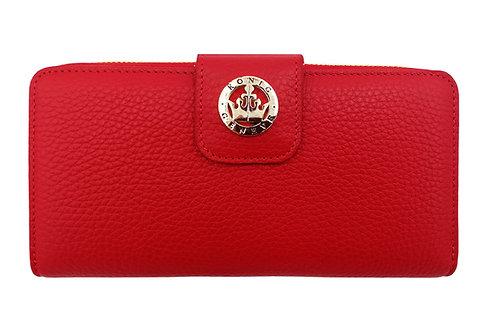 Konig - Women Wallet Red - Portefeuille en Cuir pour Femme