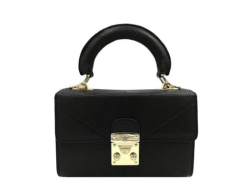 Konig - Geneva Mini Handbag Lizard Black