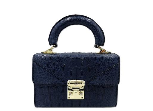 Konig - Geneva Mini Handbag Croco Royal Blue