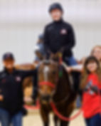 horse therapy at Equestrian Special Olympics