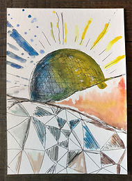 Abstract Sun, Earth, Moon
