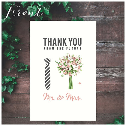 Wedding Thank You cards  |  4 Pack