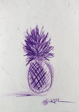Purple Pineapple Sketch