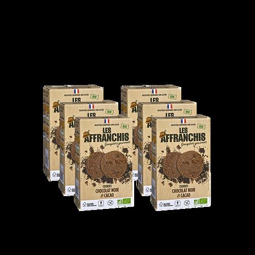BRAQUAGE DE CHOCO - Lot de 6 boîtes de cookies chocolat noir/cacao